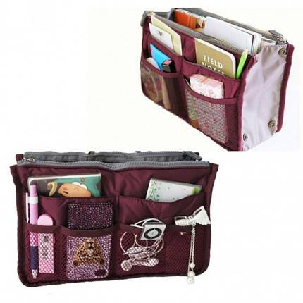 Органайзер Bag in bag maxi бордовый, фото 2