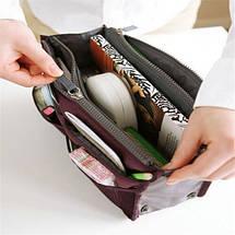 Органайзер Bag in bag maxi бордовый, фото 3