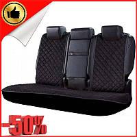 Накидки чехлы на сидения автомобиля из Алькантары Эко-замша задние универсальные защитные авточехлы Черные