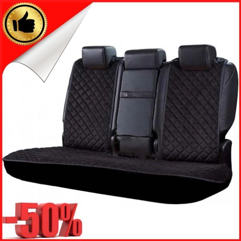 Накидки чехлы на сидения автомобиля из Алькантары Эко-замша задние универсальные защитные авточехлы Черные - фото 1