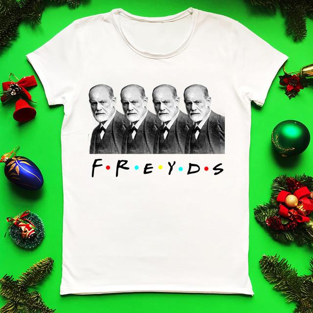 Женская белая футболка Фрейдс