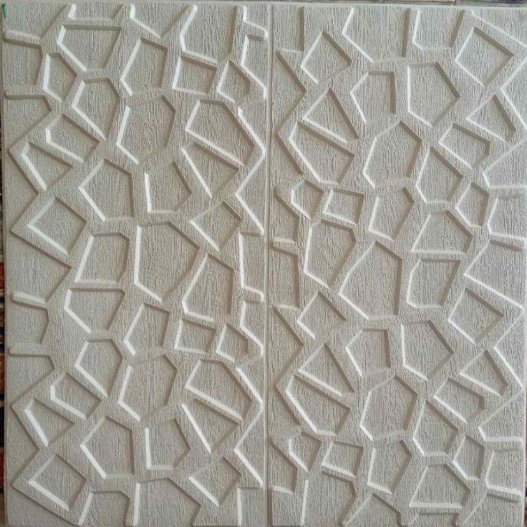 Потолочная панель белая Мозаика 115 ПВХ 3Д (самоклеющаяся мягкая для потолка) 700*700*10 мм