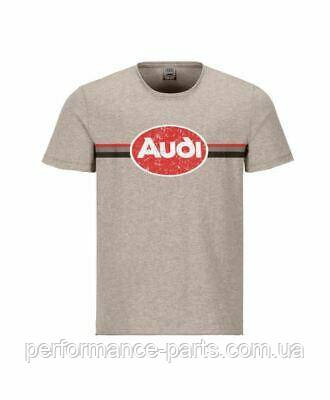Мужская футболка Audi heritage T-Shirt, Mens, beige 3132000503