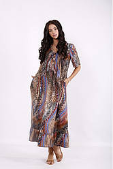 Леопардовое платье ниже колена