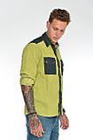 Рубашка мужская OMAT E- GML 003 Oliv, фото 4