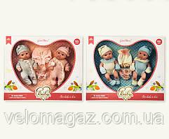 Подарочный набор новорожденных пупсиков,1908-2-1, 2 шт по 19 см в комплекте