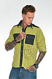 Рубашка мужская OMAT E- GML 003 Oliv, фото 7