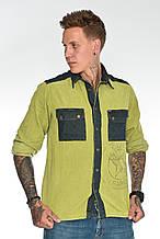 Рубашка мужская OMAT E- GML 003 Oliv
