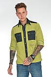 Рубашка мужская OMAT E- GML 003 Oliv, фото 2
