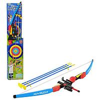 Детский лук с прицелом, стрелы на присосках