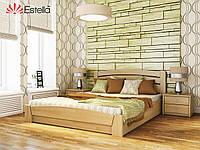 Ліжко двоспальне, ортопедична, дерев'яна Селена Аурі 120х19