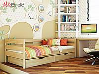 Ліжко односпальне, ортопедична, дерев'яна Нота 80х200