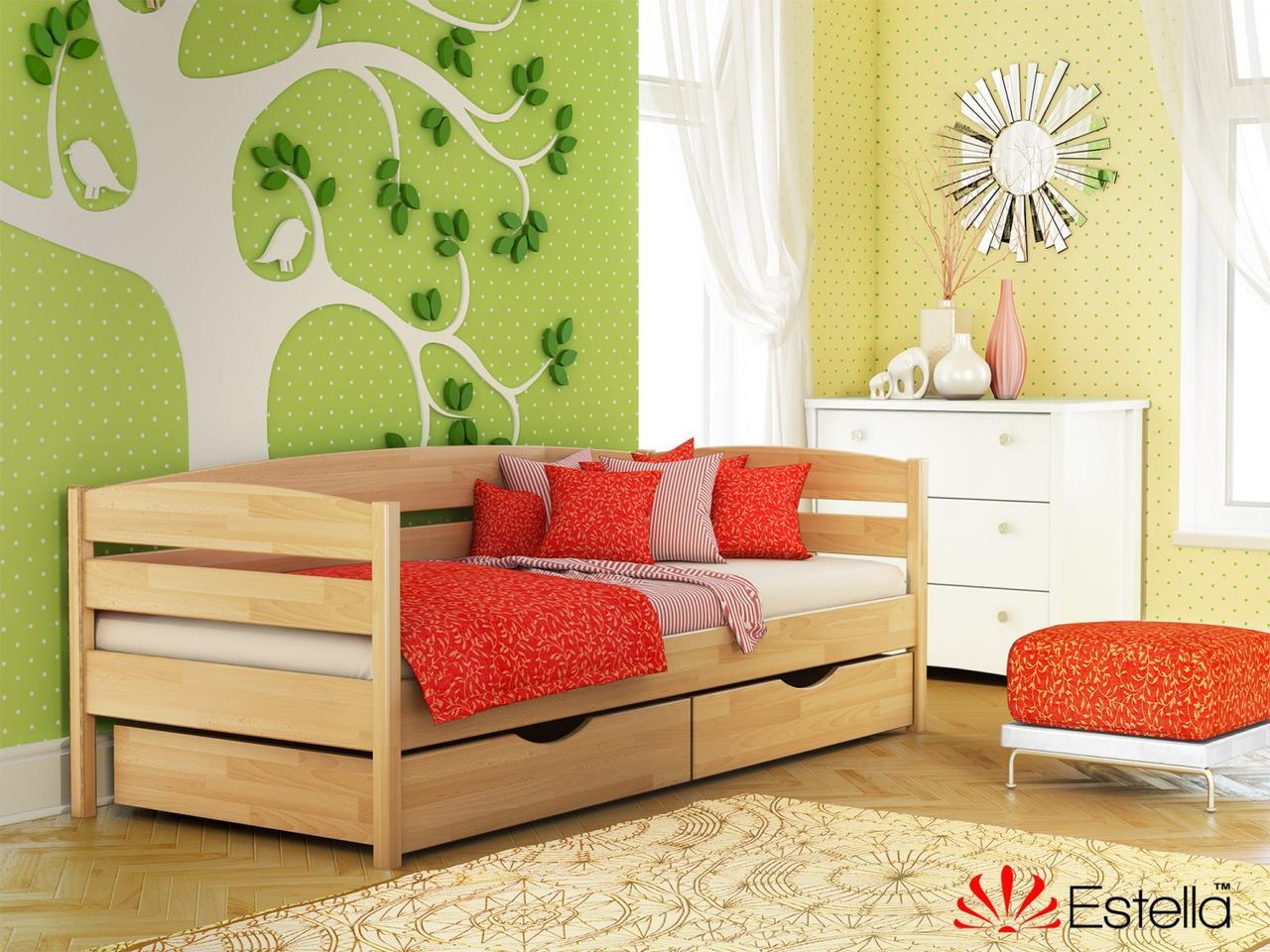 Ліжко Нота Плюс односпальне 80х190, дерев'яна, ортопедична