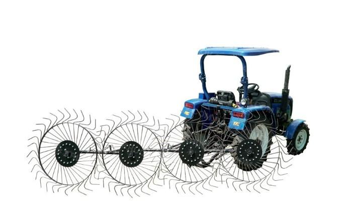Граблі для трактора ворорилки 4-колісні (ГР6) ПП Крючков