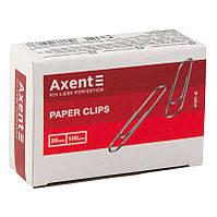 Скрепки прямые никелированные Axent 4101-A, 28 мм, 100 штук