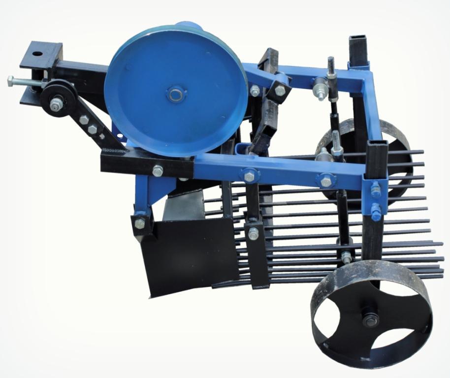 Картофелекопатель вибрационный транспортерный под мототрактор с гидравликой КК 13