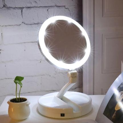 Зеркало для макияжа с LED подсветкой My Fold Jin GE JG-988