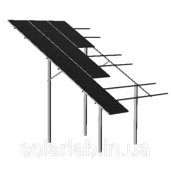 AXIOMA energy Наземная трехрядная система креплений на 120 панелей 35 мм, алюминий 6005 Т6 и оцинкованная сталь, AXIOMA energy
