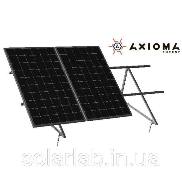 AXIOMA energy Система кріплень на 3 панелі під кутом до даху 35 мм, алюміній 6005 Т6 і оцинкована сталь,