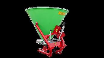 Разбрасыватель минеральных удобрений навесной Strumyk 500 л (пластик, диск из нержавейки) для трактора
