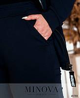 Удобный спортивный костюм батал с капюшоном с 50 по 64 размер, фото 3
