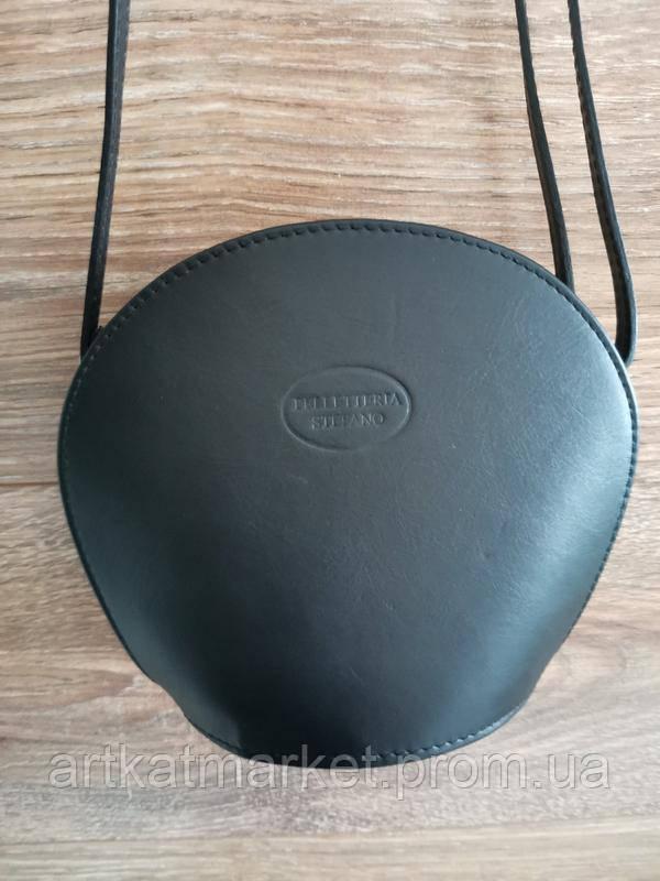 Vera Pelle made in Italy Брендовая женская кожаная сумка черная мягкая через плечо маленькая 2020