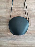 Vera Pelle made in Italy Брендовая женская кожаная сумка черная мягкая через плечо маленькая 2020, фото 2