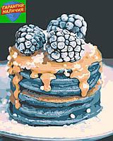 Картина по номерам Десерт (цветной холст) 40*50см Розпис по номерах