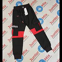 Подростковые трикотажные спортивные штаны с накладными карманами на мальчика  оптом GRACE 134---164см