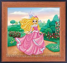 """Набор для рисования камнями 5D (частичная выкладка на холсте) """"Принцесса"""" LasKo"""