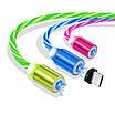Светодиодный светящийся магнитный кабель для зарядки 1м MicroUSB Быстрая зарядка, фото 3