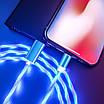 Светодиодный светящийся магнитный кабель для зарядки 1м MicroUSB Быстрая зарядка, фото 8
