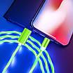 Светодиодный светящийся магнитный кабель для зарядки 1м MicroUSB Быстрая зарядка, фото 6