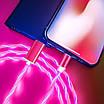 Светодиодный светящийся магнитный кабель для зарядки 1м MicroUSB Быстрая зарядка, фото 7