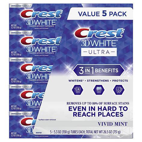 Зубная паста crest 3d white ultra158 г оригинал, фото 2