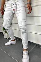 Мужские джинсы белые скинни