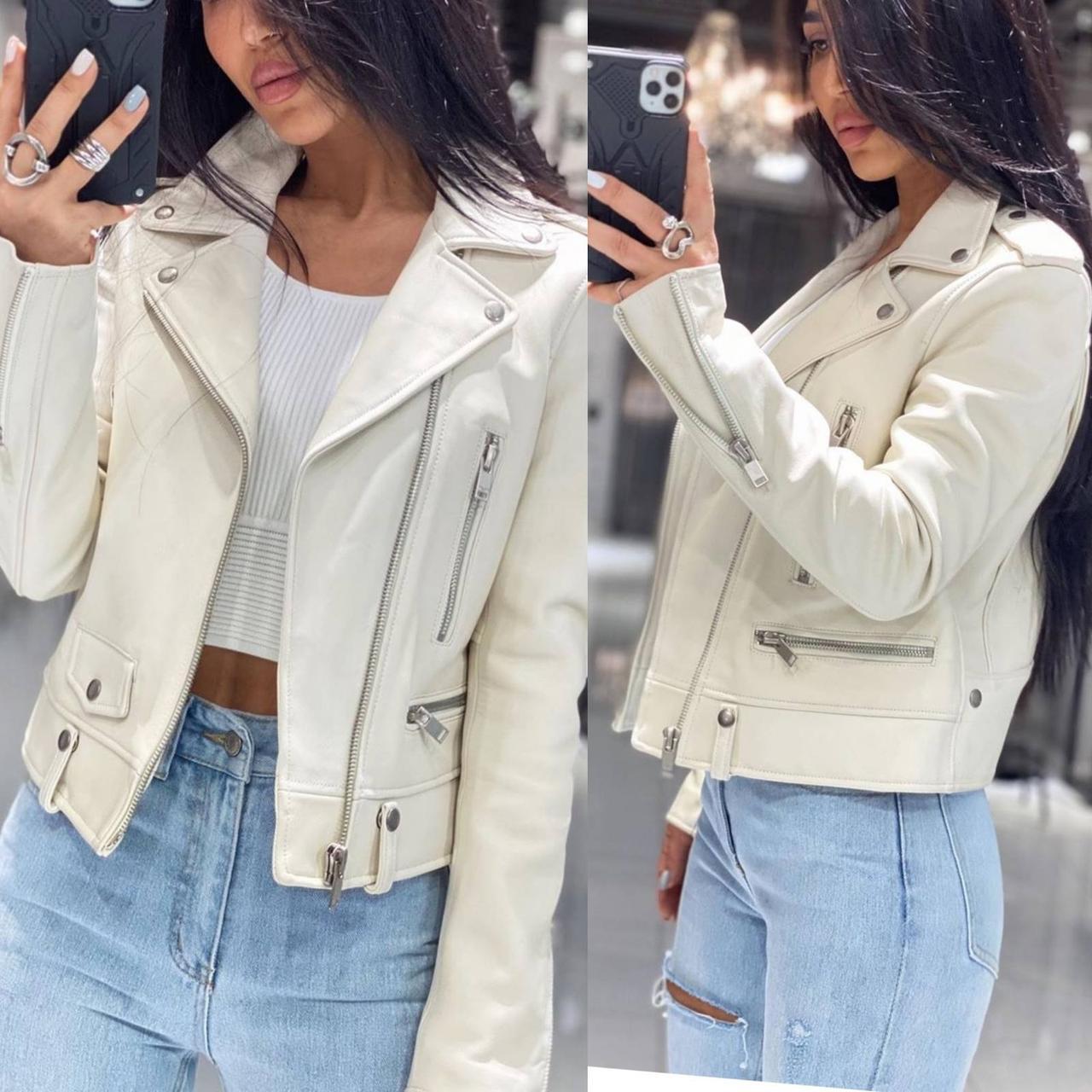 Женская косуха из экокожи, Короткая куртка косуха женская Кожзам, Женская красивая куртка косуха экокожа,