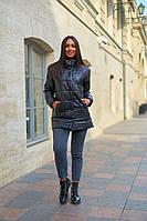 Куртки женские стеганые удлиненная больших размеров, Модная стеганая куртка для женщин больших размеров, фото 3