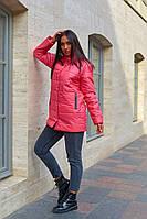 Куртки женские стеганые удлиненная больших размеров, Модная стеганая куртка для женщин больших размеров, фото 4