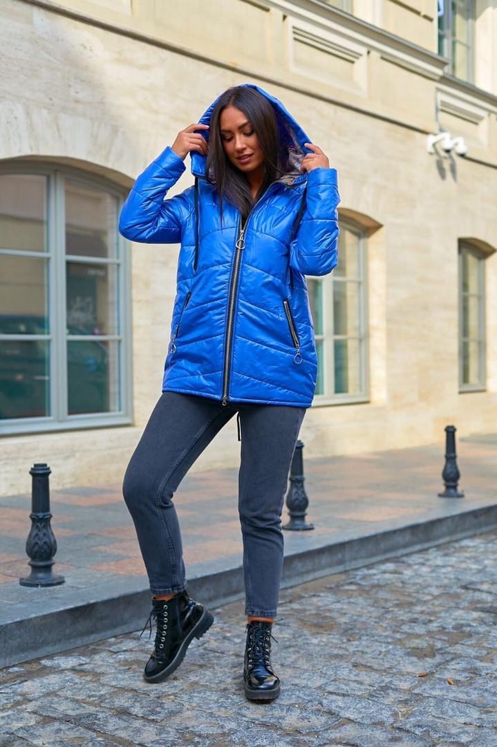 Куртка женские стеганые удлиненная с капюшоном больших размеров, Модная стеганая куртка для женщин больших размеров