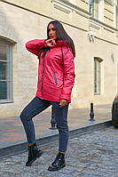 Куртка женские стеганые удлиненная с капюшоном больших размеров, Модная стеганая куртка для женщин больших размеров, фото 2