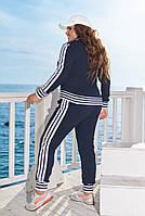 Демисезонные прогулочные и спортивные костюмы больших размеров, Женские спортивные костюмы больших размеров, Модный прогулочный спортивный костюм с, фото 5