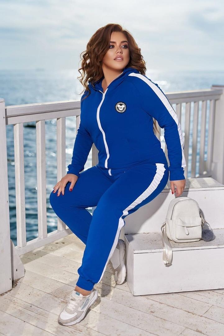 Демисезонные спортивные костюмы больших размеров, Женские спортивные костюмы больших размеров, Модный прогулочный спортивный костюм