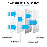 10 шт Респіратор маска захисна FFP2 KN95 з клапаном багаторазова синя опт, фото 3