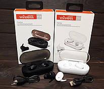 Беспроводные Bluetooth наушники JBL TWS 4 By Harman спортивная блютуз гарнитура с кейсом для зарядки