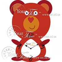 Часы настенные Мишутка детские МДФ 23 * 4,5 * 33см