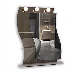 Зеркало с подсветкой 600х800 Ф518 с полками