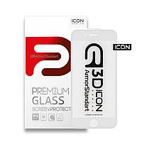 Защитное стекло 3D для Apple iPhone SE New/8/7 White (ARM55981-GI3D-WT)