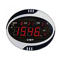 Часы сетевые VST  770 Т-1 говорящие красные, настенные пульт Д/У (электронные часы настольные, настенные)