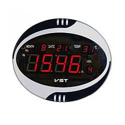 Говорящие сетевые часы VST 770 Т-1 — Настольное и настенное крепление